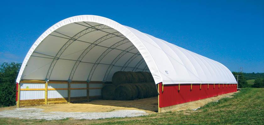 Red Hay Storage Building