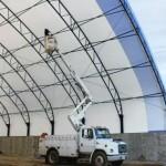 fabric covered building repair